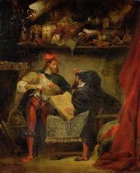 "Eugene Delacroix's painting, ""Faust and Mephistopheles"""