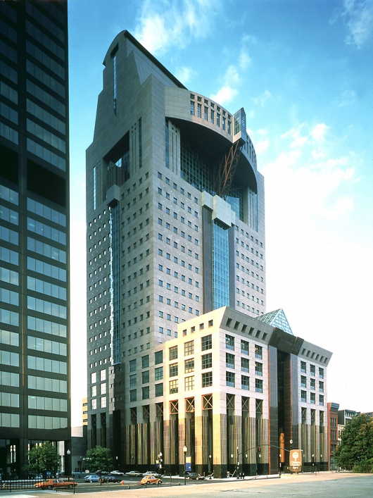Michael Graves' Humana Building in Louisville, Kentucky (completed in 1985)