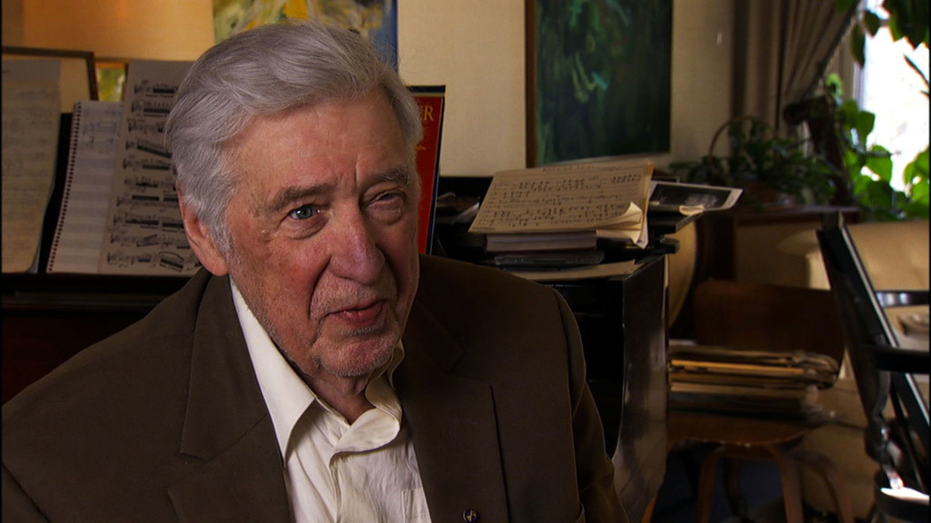 American composer, conductor, and jazz musician Gunther Schuller (1925-2015)